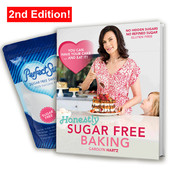 Sugar Free Baking Cookbook by Carolyn Hartz plus 500g Perfect Sweet xylitol!
