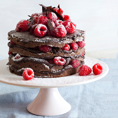 Chocolate, Raspberry Gateaux